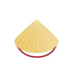Conical straw hat icon isometric 3d style vector image