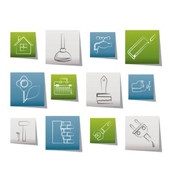 construction and do it yourself icons vector image