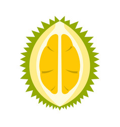 Durian icon flat style vector