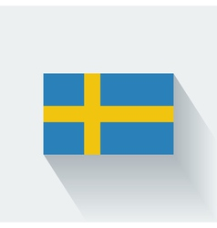 Flat flag of Sweden vector image vector image