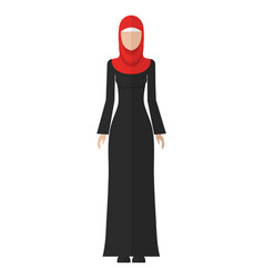 Flat of a young muslim woman vector