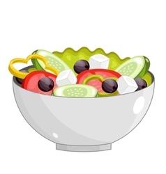Greek salad with fresh vegetables vector image