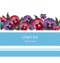 Greeting Card with Spring Summer Flowers vector image