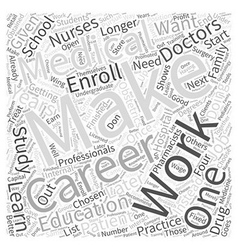 Making a career from medical education word cloud vector