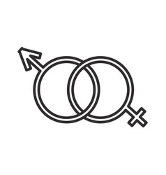 male and female genders line icon sign vector image