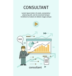 Management consulting banner vector