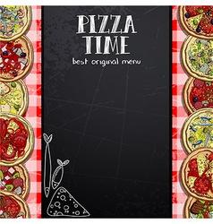 Menu design in the pizzeria vector