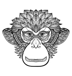 Monkey Doodle Face vector image vector image