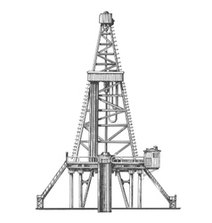 Oil rig logo design template petroleum or vector