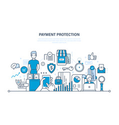 Payment protection guarantee security of deposits vector