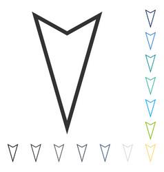 Pointer down icon vector