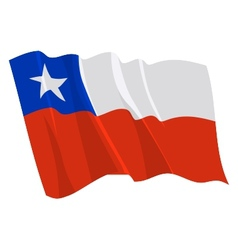 Political waving flag of chile vector