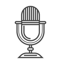 Radio microphone linear icon vector