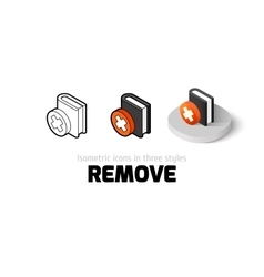 Remove icon in different style vector image vector image