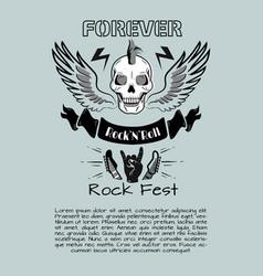 Rock n roll fest forever vector