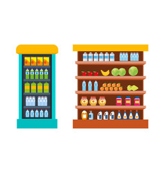Store food products shopping mall vector