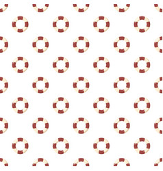 Striped lifebuoy pattern vector