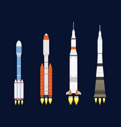 Technology ship rocket cartoon design for vector