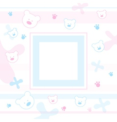 Teddy bears frame vector