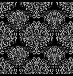Vintage tapestry floral seamless pattern vector