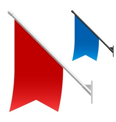 wall flags vector image