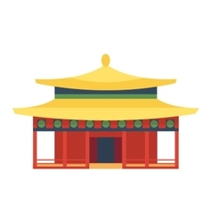 Beautiful asia travel temple vector