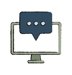 Computer communication message bubble speak sketch vector