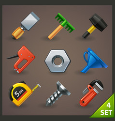 tools icon set-4 vector image