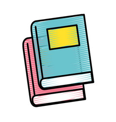 Books tool study to learn things vector