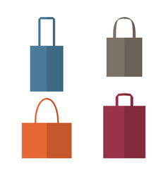 Set of shopping bags icons vector