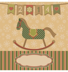 New year 2014 with the horse vector image