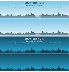 Luxembourg skyline event banner vector