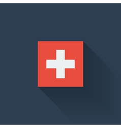 Flat flag of switzerland vector