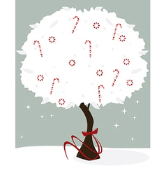 Candy cane tree vector