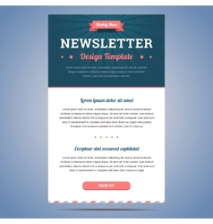 Newsletter design template vector image