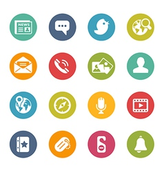 Social-Media-Icons Fresh-Colors-Series vector image