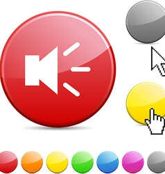 Sound glossy button vector