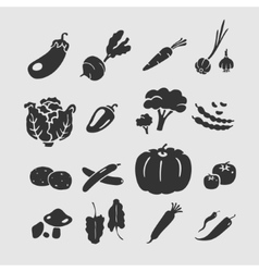 Symbol vegetables vector