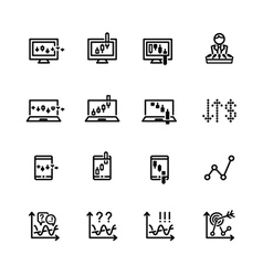 Market icon set vector