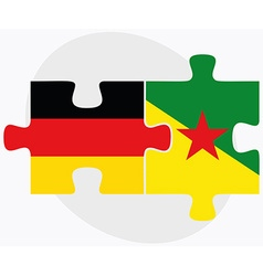 Germany and french guiana flags vector