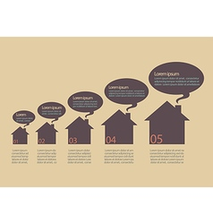 House Icons Infographic vector image