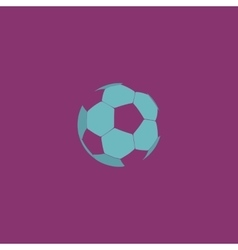 Football ball - soccer flat icon vector