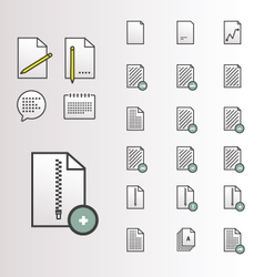 File Document Icons vector image