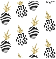 Glitter scandinavian ornament gold vector
