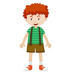 Boy with curly hair vector