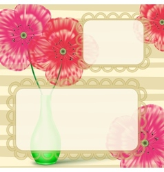 Love letter frame with flowers vector
