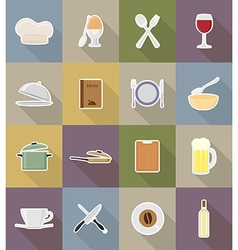 objects for food flat icons 18 vector image