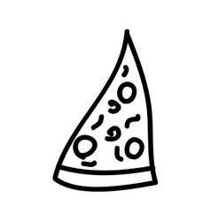 pizza pieceisolated icon design vector image