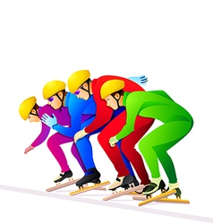 Ice-skaters vector