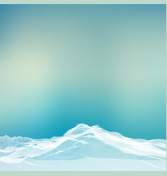 abstract landscape mesh background vector image vector image